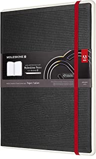 Moleskine Adobe Creative Cloud Paper Tablet, Extra Large, Black, Hard Cover (7.5 x 9.75) 176 Pages