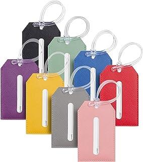 Toughergun Faux Leather Luggage Tags(Multi-color 8 pcs set)