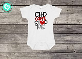 CHD Can't Stop Me Baby Onesie®- CHD Heart Warrior Toddler Shirt- CHD Heart Warrior Baby Romper