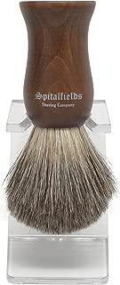 Spitalfields Shaving Company 100% Pure Badger Bristle with Faux Ebony Beechwood Handle Shaving Brush and FREE Acrylic Stand - Columbia Road