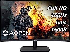 "$189 » AOPEN 27HC5R Pbiipx 27"" 1500R Curved Full HD (1920 x 1080) VA Gaming Monitor with AMD Radeon FREESYNC Premium Technology, ..."