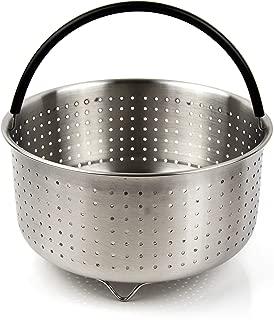 The Tinker Mart - 6qt 8qt Steamer Basket Compatible with Instant Pot Accessories Ninja Foodi - Stainless Steel Insert for 6 Quart 8 Quart Pressure Cooker - Fits IP 6 qt 8 qt - 6Quart 8Quart
