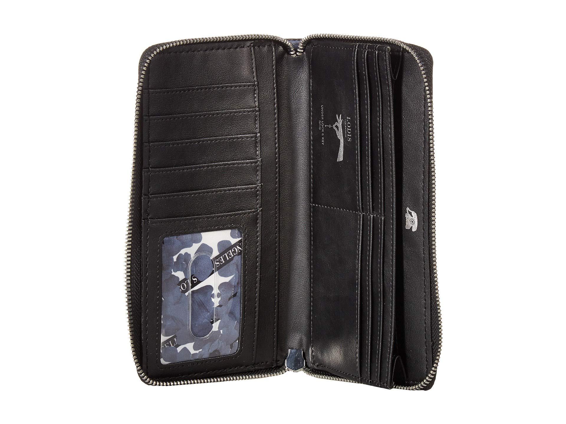 Black Zip Accessories Wallet Saratoga Perla Lodis qxfTaw8nU