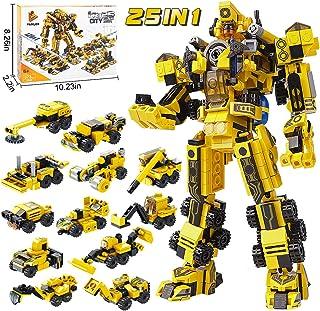 25-in-1 STEM Building Toys for Kids - Creative Brick Kits...