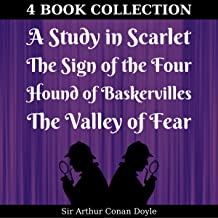 A Study in Scarlet, Sign of the Four, Hound of Baskervilles, Valley of Fear (Annotated)