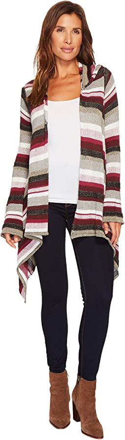 Tribal - Long Sleeve Cotton Stripe Multicolor Hoodie Cardigan