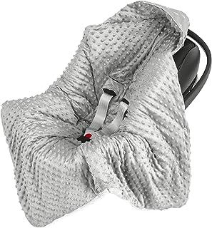 Einschlagdecke für Babyschale Kinderwagen Autositz - universal baby Decke z. B. Maxi Cosi, Buggy Autoschale Babydecke aus Minky Oeko-Tex zertifiziert