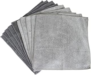 Sophisti-Clean Stainless Steel Microfiber Cloths 10pk, Soft Absorbent Non-Abrasive Cleaning Cloths, Lint Free - Streak Free, Easily Clean Without Chemicals, Gray