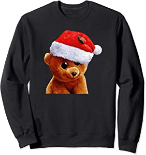 Cute Teddy Bear Santa Hat holiday x-mas in July sweatshirt