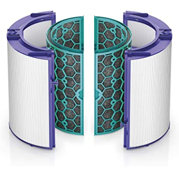 Dyson Air Purifier Replacement (HP04, TP04, DP04,) 360° Glass HEPA and Activated Carbon Filter, 9 x 9 x 9.5 inches, Purple/Teal