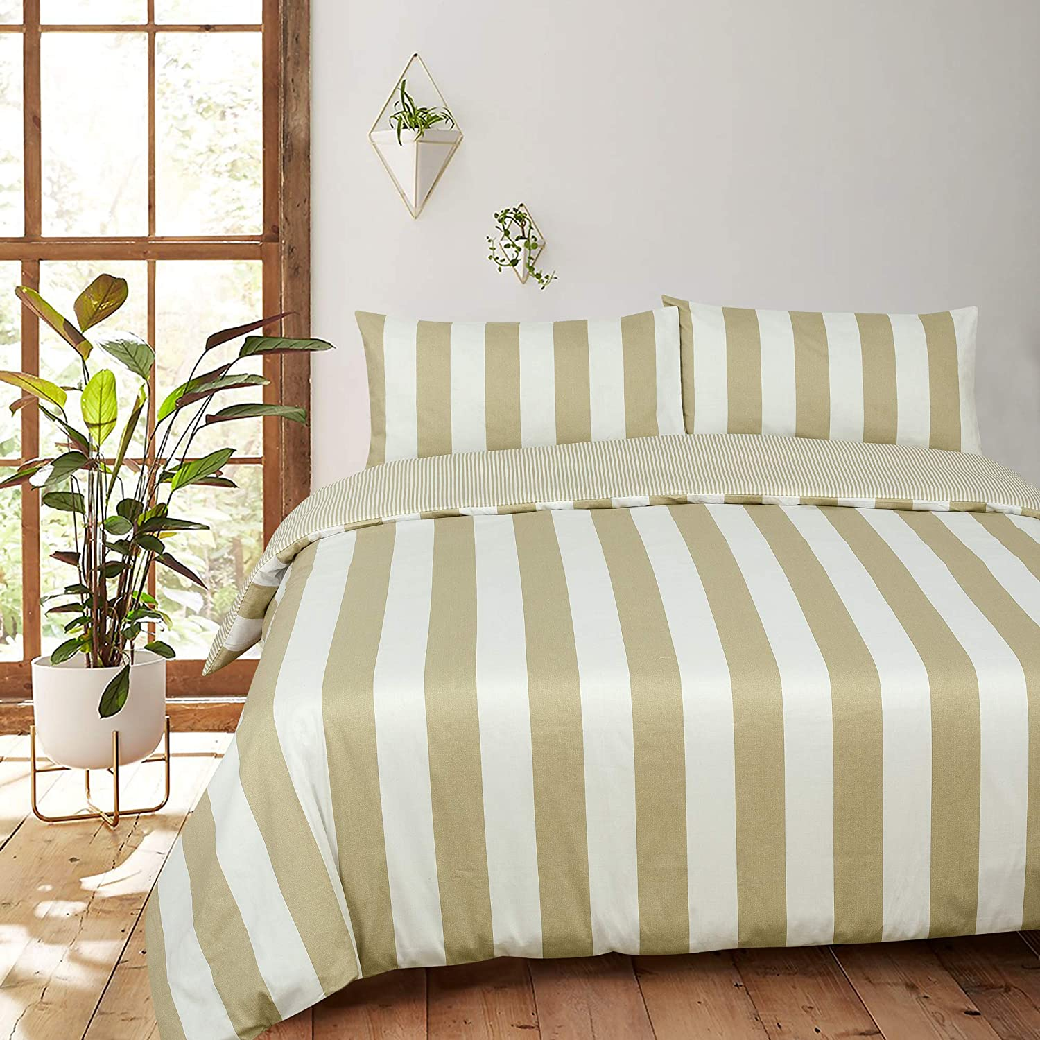 Sateen Weaved with Fleurise Design Button closure Duvet Cover for better Sleep down Casa De Rococo Double Bed Duvet Cover Set with 2 Pillowcases Sizes 200 x 200 cm and 50 X 75 cm