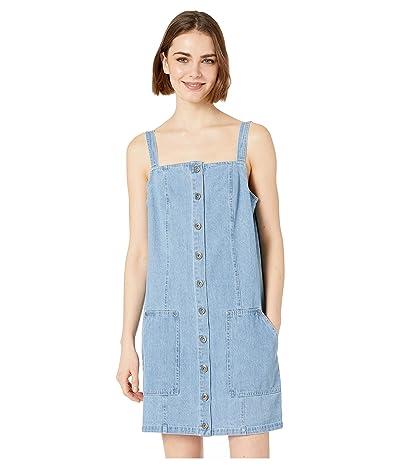Jack by BB Dakota Blue Jean Baby Denim Overall Dress (Denim) Women