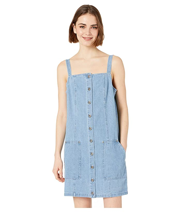 Jack by BB Dakota Blue Jean Baby Denim Overall Dress (Denim) Women