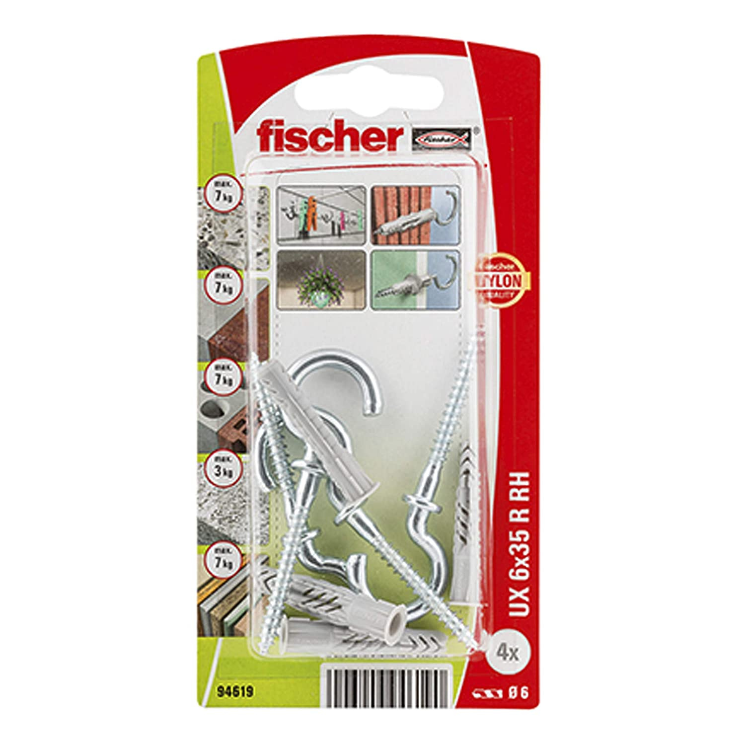 fischer 94619 UX SEAL limited product Gray Wallplug Ranking TOP3