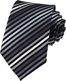 Elfeves Men's Modern Striped Patterned Classic Formal Ties College Daily Woven Neckties