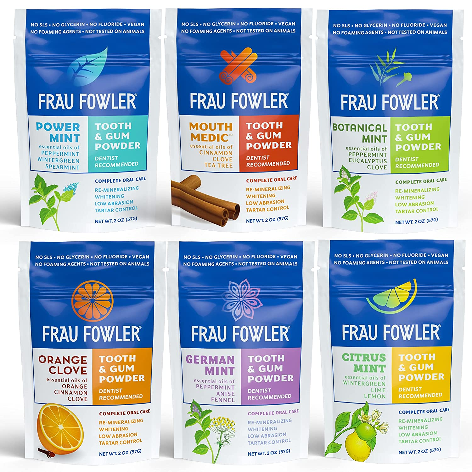 Frau Fowler 40% OFF Cheap Sale Natural Oral Care Variety 6 - High quality All The Get Fun Pack