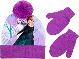 Disney Frozen 2 Girls and Toddlers Hat and Mitten/Glove Cold Weather Winter Set