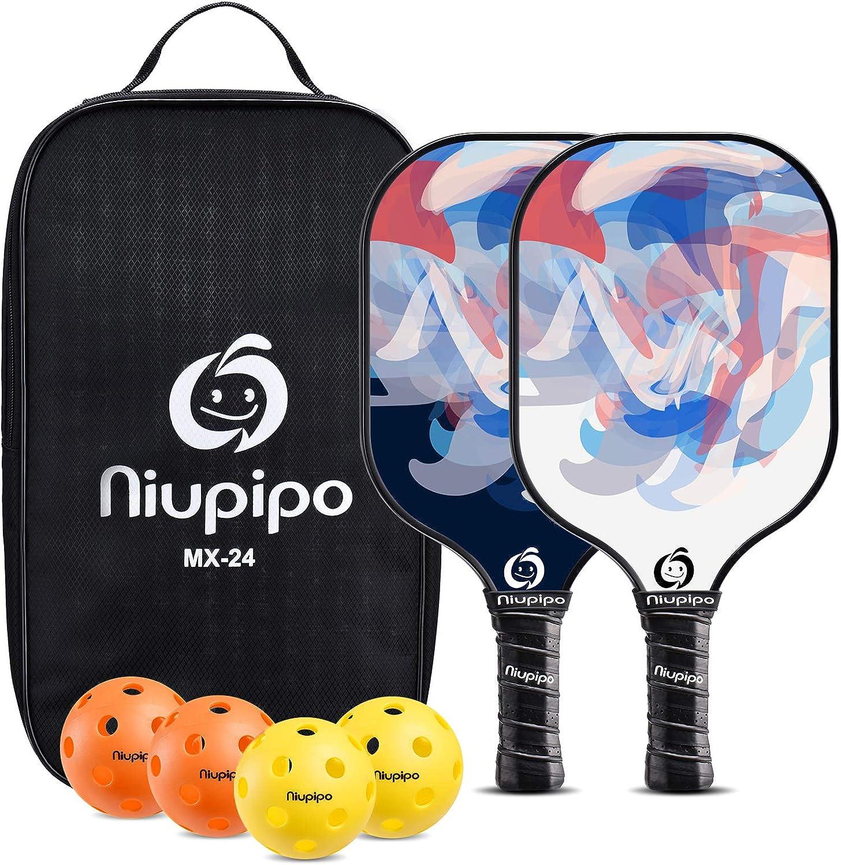 niupipo Pickleball Paddles Paddle Set of Super Sale price Special SALE held Fibergla 2