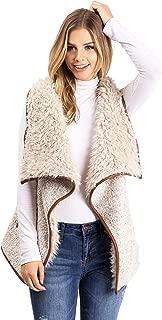 Lana Roux Women's Juniors Faux Fur Sherpa Vest