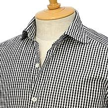 [Giannetto【ジャンネット】]ギンガムチェックシャツ VINCIFIT 92031270370V81 007 コットン ブラック