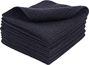 (Black, 30cmx30cm) - Microfibre Thick Waffle Weave Dish Drying cloths Ultra Absorbent Kitchen Cleaning Dish Cloth Scratch ...
