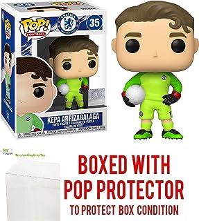 Kepa Arrizabalaga #35 Chelsea Football Club Pop Sports: Soccer EPL Action Figure (Bundled with Ecotek Protector to Protect Display Box)