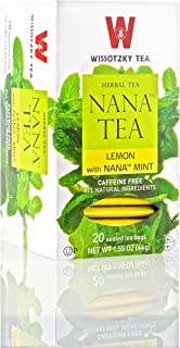 WISSOTZKY TEA NANA LEMON HERBAL, 20 BG