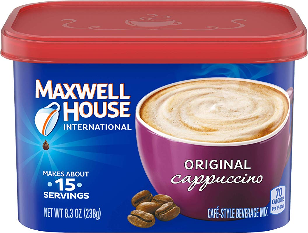 Maxwell House International Cafe Cappuccino Instant Coffee 8 3 Oz Canisters Pack Of 4