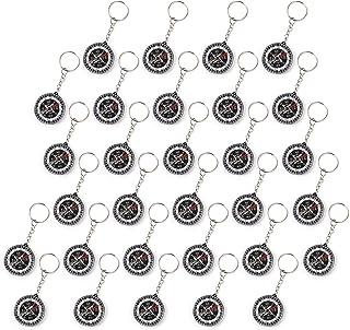 WELLGRO - Set di 30 portachiavi con bussola, idea regalo per il compleanno dei bambini, circa 3,5 x 1,0 cm (diametro x alt...