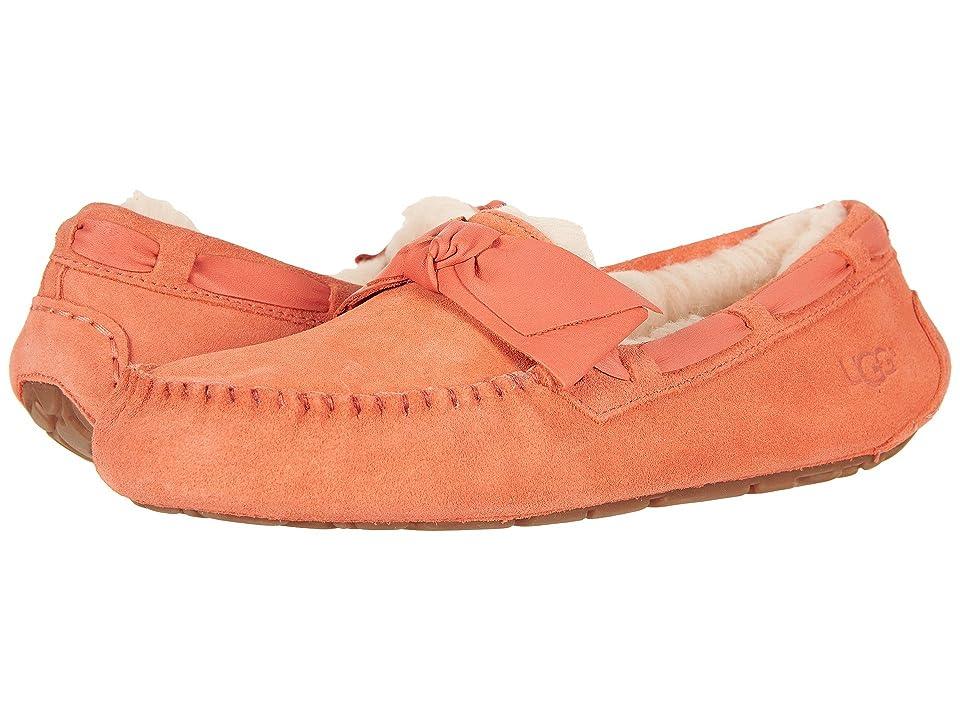 UGG Dakota Leather Bow (Vibrant Coral) Women