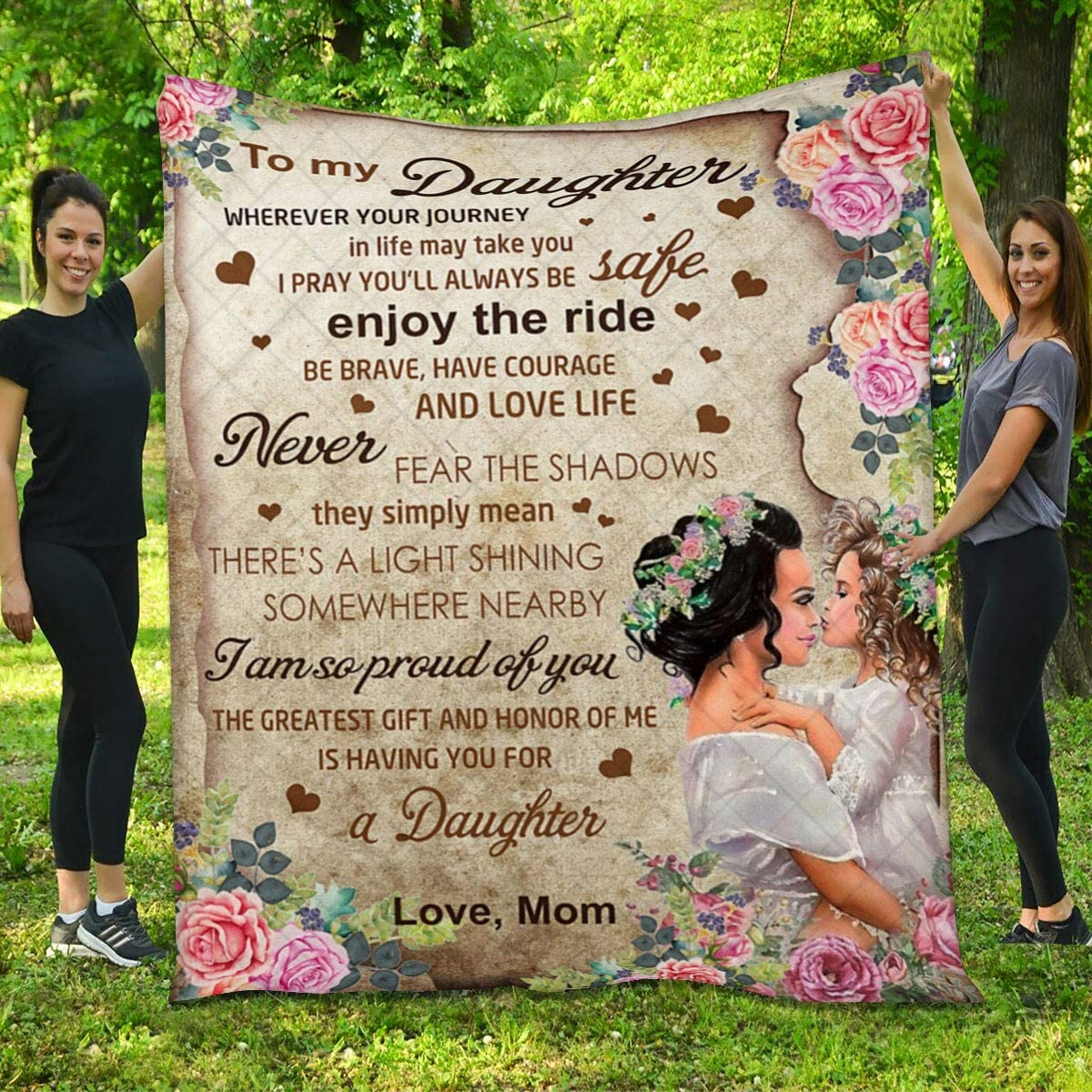Daughter Quilt from Mom - Girl Am I and Branded goods Ranking TOP19 Flower So Proud