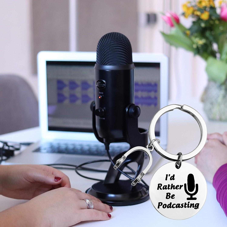 FAADBUK Funny Podcaster Gift Podcasting Gift Podcasting Lover Gift Id Rather Be Podcasting Podcast Gift Gift for Internet Bloggers