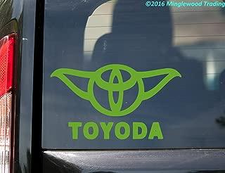Minglewood Trading Toyoda Yoda - Lime Green Vinyl Decal Sticker 7