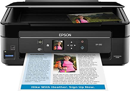 $71 » Epson Expression Home XP-330 Wireless Color Photo Printer with Scanner and Copier, Amazon Dash Replenishment Enabled (Renewed)
