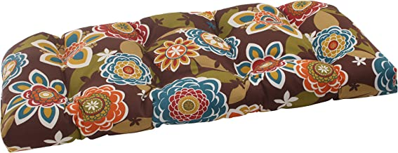 Pillow Perfect Outdoor Annie Wicker Loveseat Cushion, Chocolate