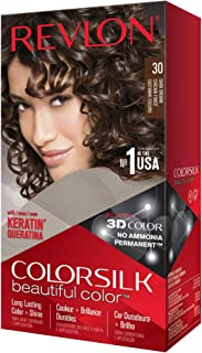 Revlon Tintura per Capelli, Colorsilk Tinte, 200 gr, 30-Castaño Oscuro