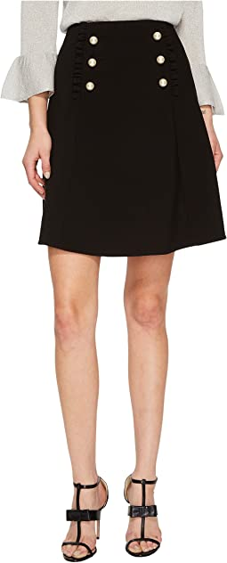 Kate Spade New York - Pearl Button Crepe Skirt