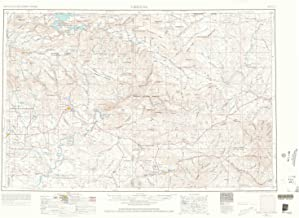 YellowMaps Vernal UT topo map, 1:250000 Scale, 1 X 2 Degree, Historical, 1954, Updated 1966, 22 x 30.7 in
