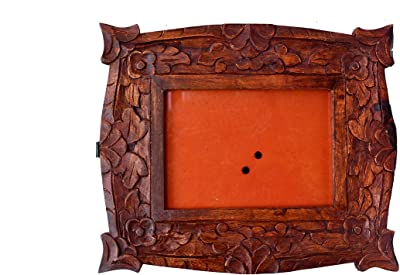 7x5 Picture Frame Distressed Red Mount Wall Hanging and Table Standing Photo Frame - Women's Day Special
