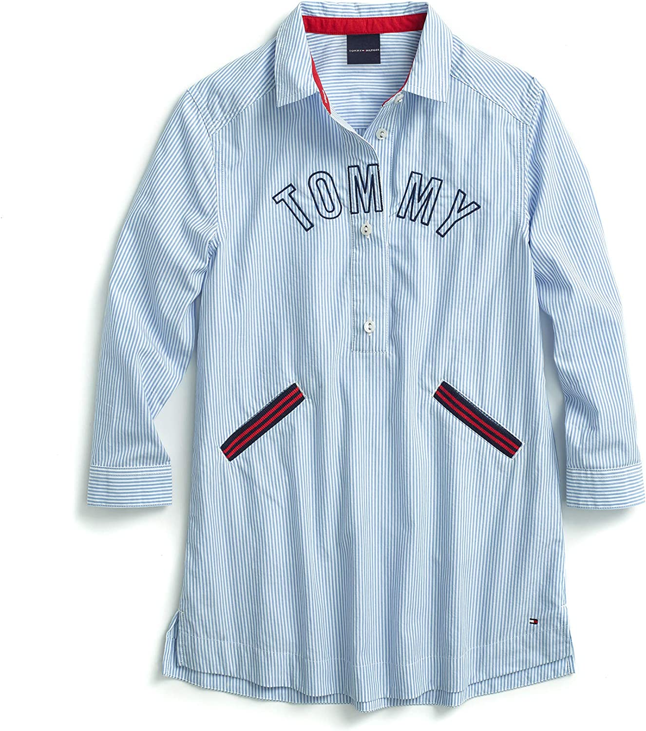 Tommy Hilfiger Girls Big Adaptive Tunic Top with Magnetic Buttons