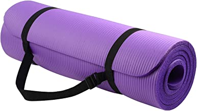 BalanceFrom BFGY-AP6PP Go Yoga All Purpose Anti-Tear Exercise Yoga Mat with Carrying Strap, Purple