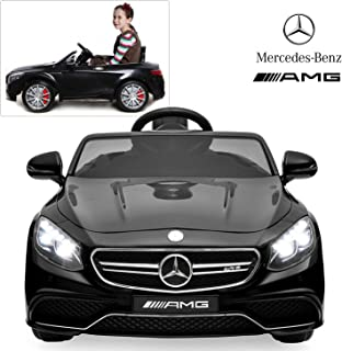 Mercedes Benz AMG S63 Ride On Car with Remote Control for Kids | 12V Power Battery Official Licensed Kid Car to Drive with 2.4G Radio Parental Control Black