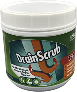 DrainScrub Powder Enzyme Drain Cleaner and Septic Treatment Environmentally Friendly Bacteria Unclog and Deodorize Pipes (...