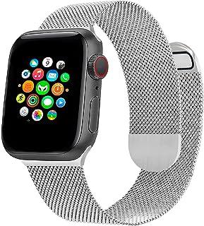 Milanese Metallic Watch Armband Kompatibel med Apple Watch Band 44mm 42mm 40mm 38mm, Magnetiskt Justerbart Rostfritt Stål ...