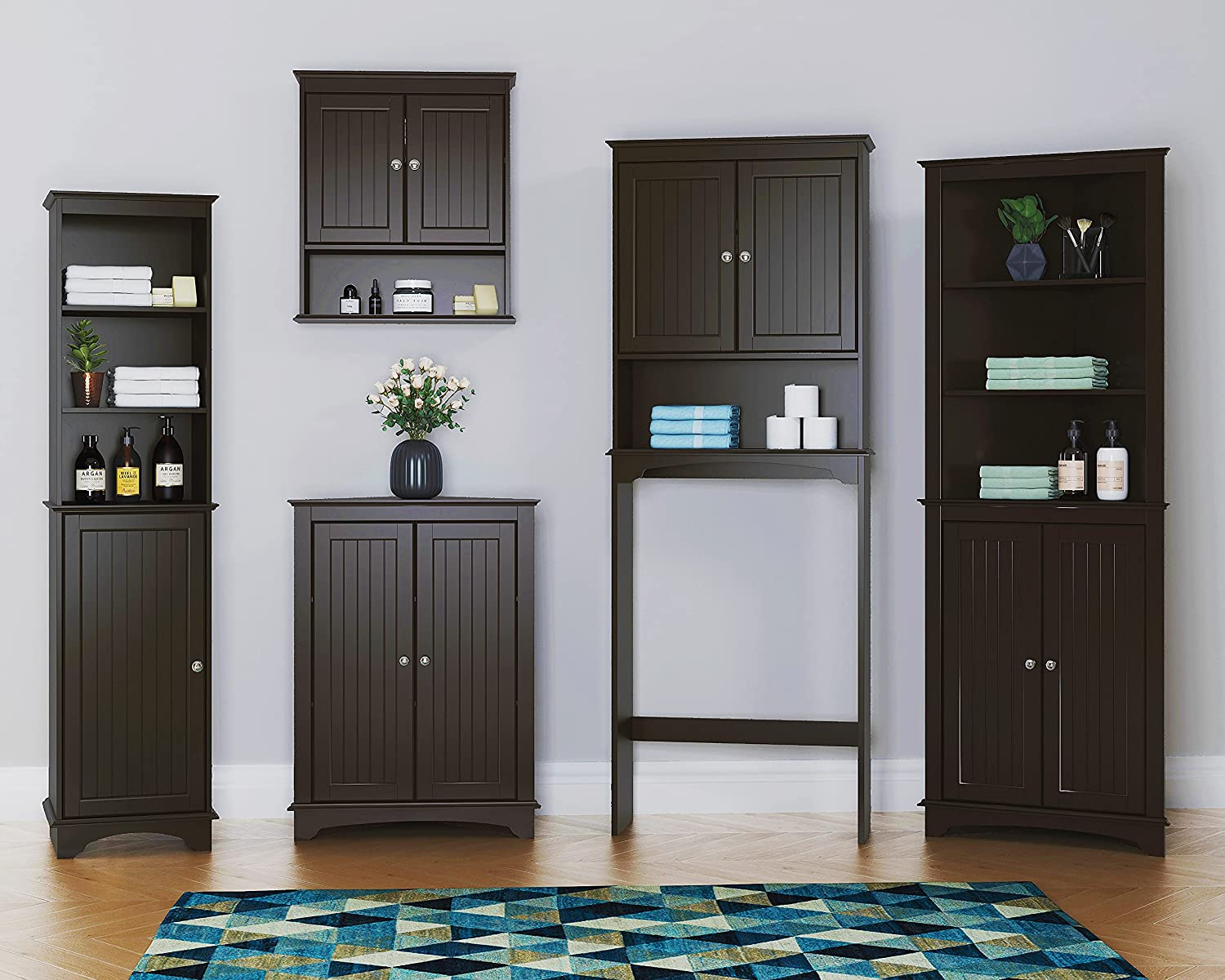Buy Spirich Home Bathroom Cabinet Wall Mounted With Doors Wood Hanging Cabinet Wall Cabinets With Doors And Shelves Over The Toilet Bathroom Wall Cabinet Espresso Online In Vietnam B08sbrrmdv
