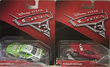 Cars 3 Disney Pixar Brick Yardley & Natalie Certain Die Cast 2 Car Set!
