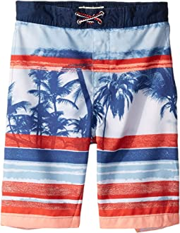 2dc451f5 Lacoste kids hand drawn striped swim trunks little kids big kids ...
