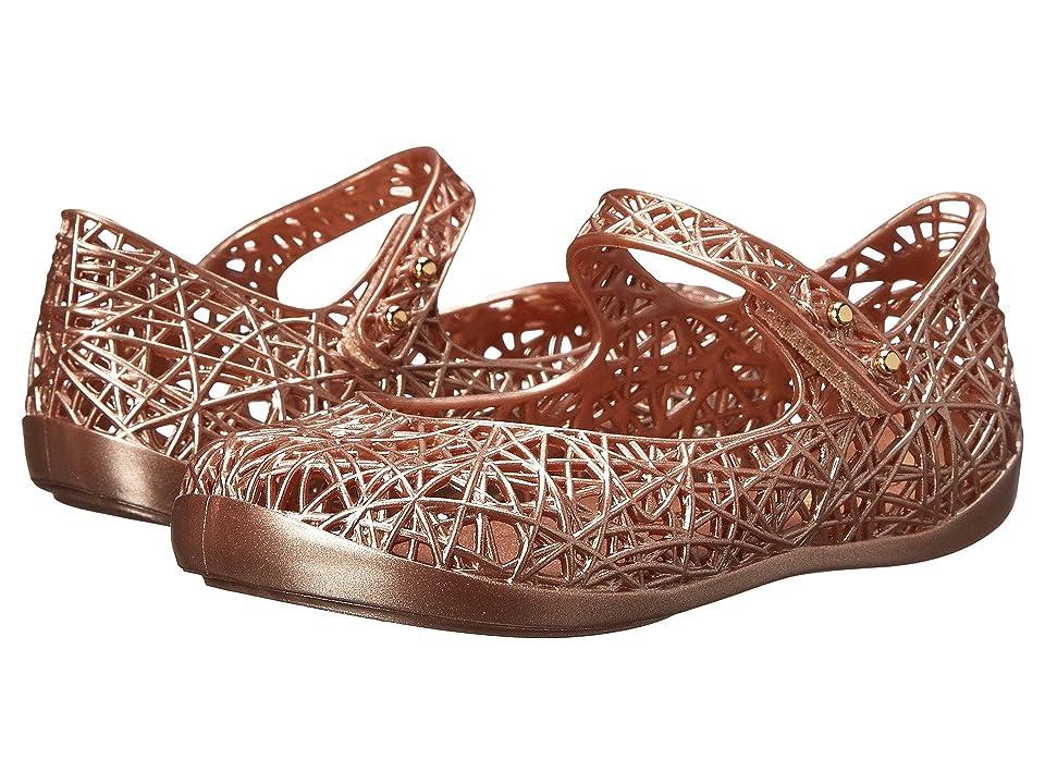 Mini Melissa Mini Campana Zig Zag VI (Toddler) (Bronze) Girls Shoes