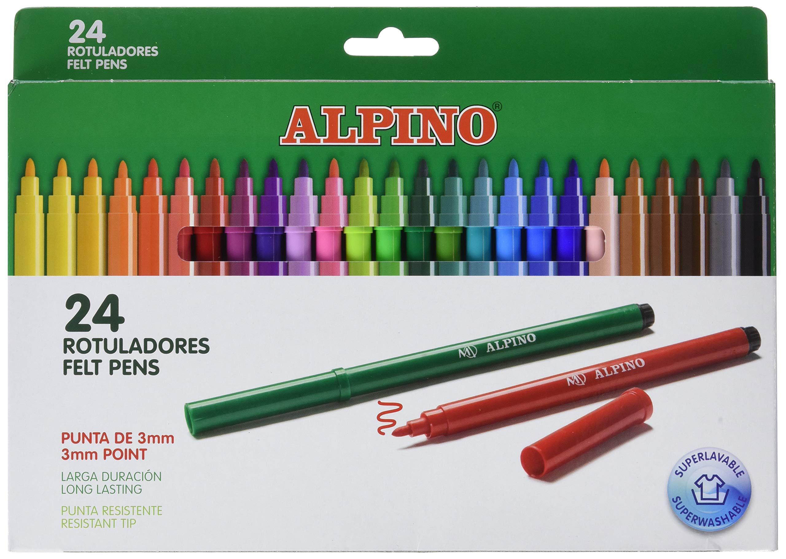 Alpino AR001003 - Rotuladores, 24 unidades: Amazon.es: Oficina y papelería