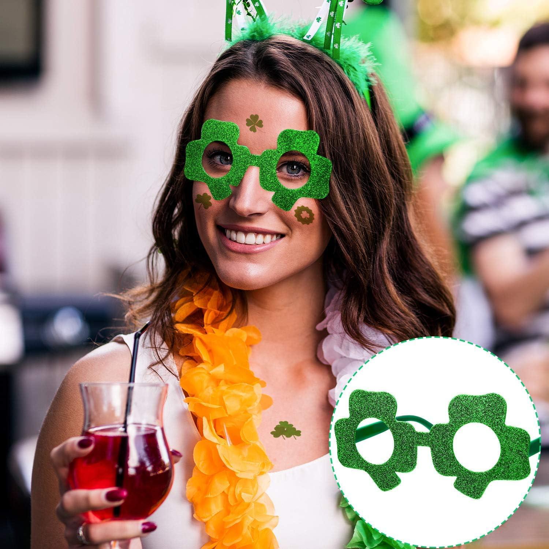 Patrick/¡/¯s Day Shamrock Clover Glasses Xhwykzz St